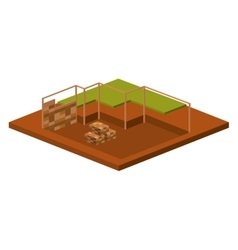 Isometric house architecture model design vector image