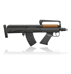 machine gun with a short barrel vector image