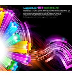 neon streaks background vector image vector image