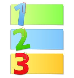 Paper cards with numbers vector image