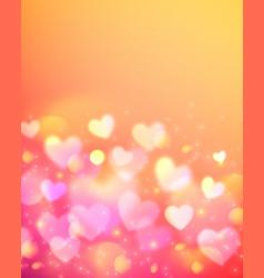 Pink bokeh effect shining background vector image