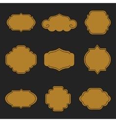 Set of labels on black background vector image
