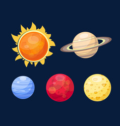 space planets star vector image vector image