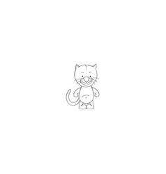 tiger cartoon icon vector image