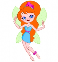 young fairy vector image vector image