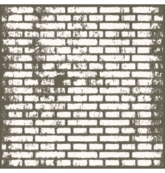 Background of old vintage dirty brick room vector image