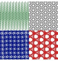 Set of geometric pattern in op art design art vector image