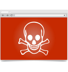 simple opened browser window on white background vector image vector image