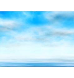 Sky over water vector image