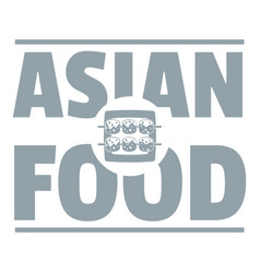 asian food logo simple gray style vector image