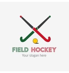 Field hockey team logo sport club badge vector