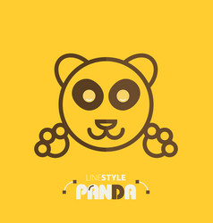 line style panda vector image vector image