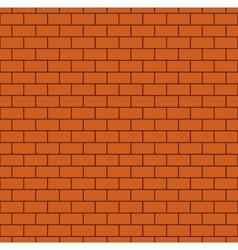 Russet Brick Wall Seamless Pattern vector image