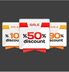 Sale or discount tag vector image