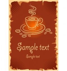 background with art coffee cup vector image
