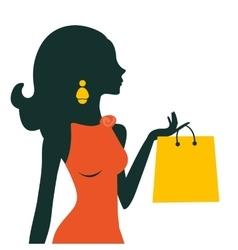 Beautiful woman shopping vector image vector image