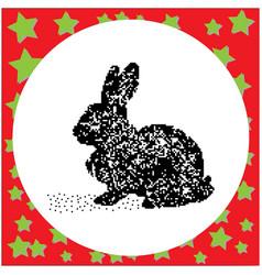 rabbit black 8-bit dog standing vector image vector image