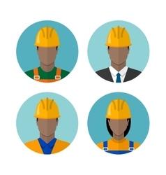 Set of builders avatars vector