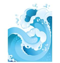 Water splash background vector image