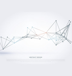 Abstract geometric polygonal technology style vector