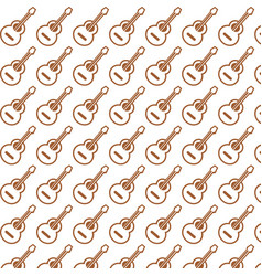 acoustic guitar pattern background vector image