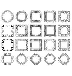 Art deco frames set vector