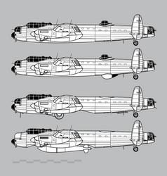 avro lancaster vector image