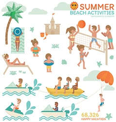 Beach Activities vector