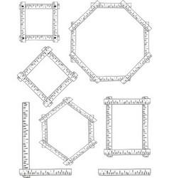 birch frames vector image