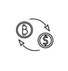 bitcoin dollar exchange icon vector image