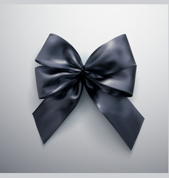 Black bow and ribbons vector