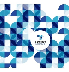 Blue circles geometrical abstract background vector