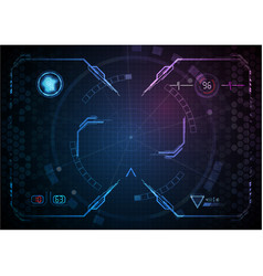 blue pink gaming interface digital technology vector image