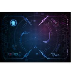 Blue pink gaming interface digital technology vector