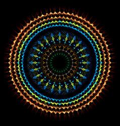 Boho tribal radial mandala art vector