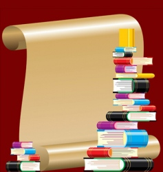 book collection vector image