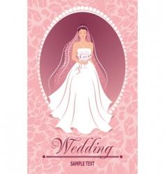Bride with a bouquet vector