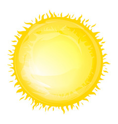 bright sun with fiery rays vector image