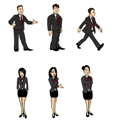 businessman and businesswoman vector image vector image