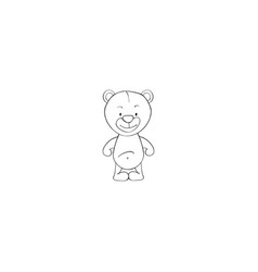 cartoon bear icon vector image