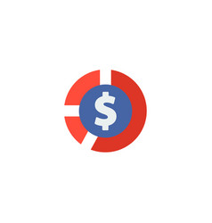 cash icon flat element of vector image