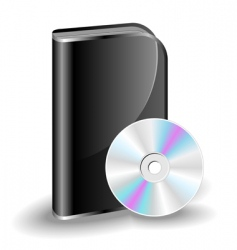 Cd dvd box vector