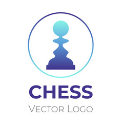 chess game logo design template chess vector image