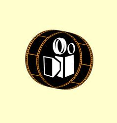 cinema logo movie emblem template vector image