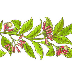 clove branch pattern vector image