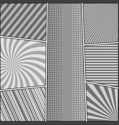 comic book retro monochrome composition vector image