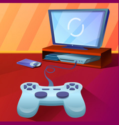Console concept background cartoon style vector