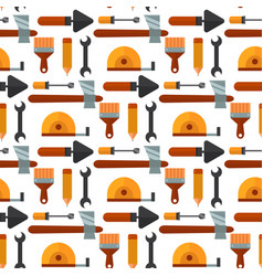 Construction tools worker equipment house vector