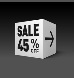 cube banner template for holiday sale event vector image