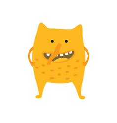 cute monster on white isolated vector image